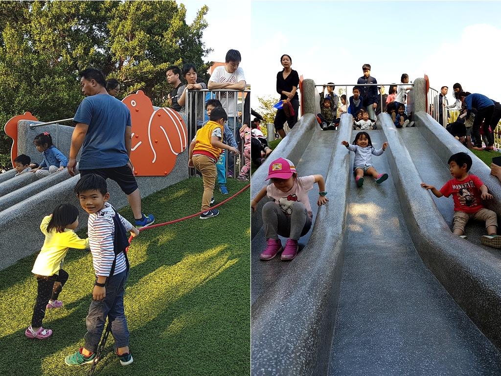 幼儿园玩滑滑梯排队图片