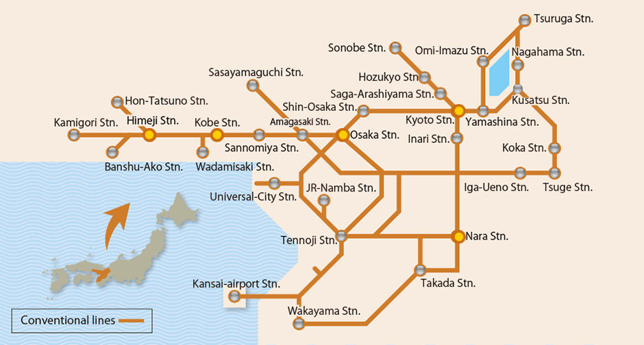 Day JRWest Kansai Rail Pass KIX Pick Up Klook - Japan jr map osaka