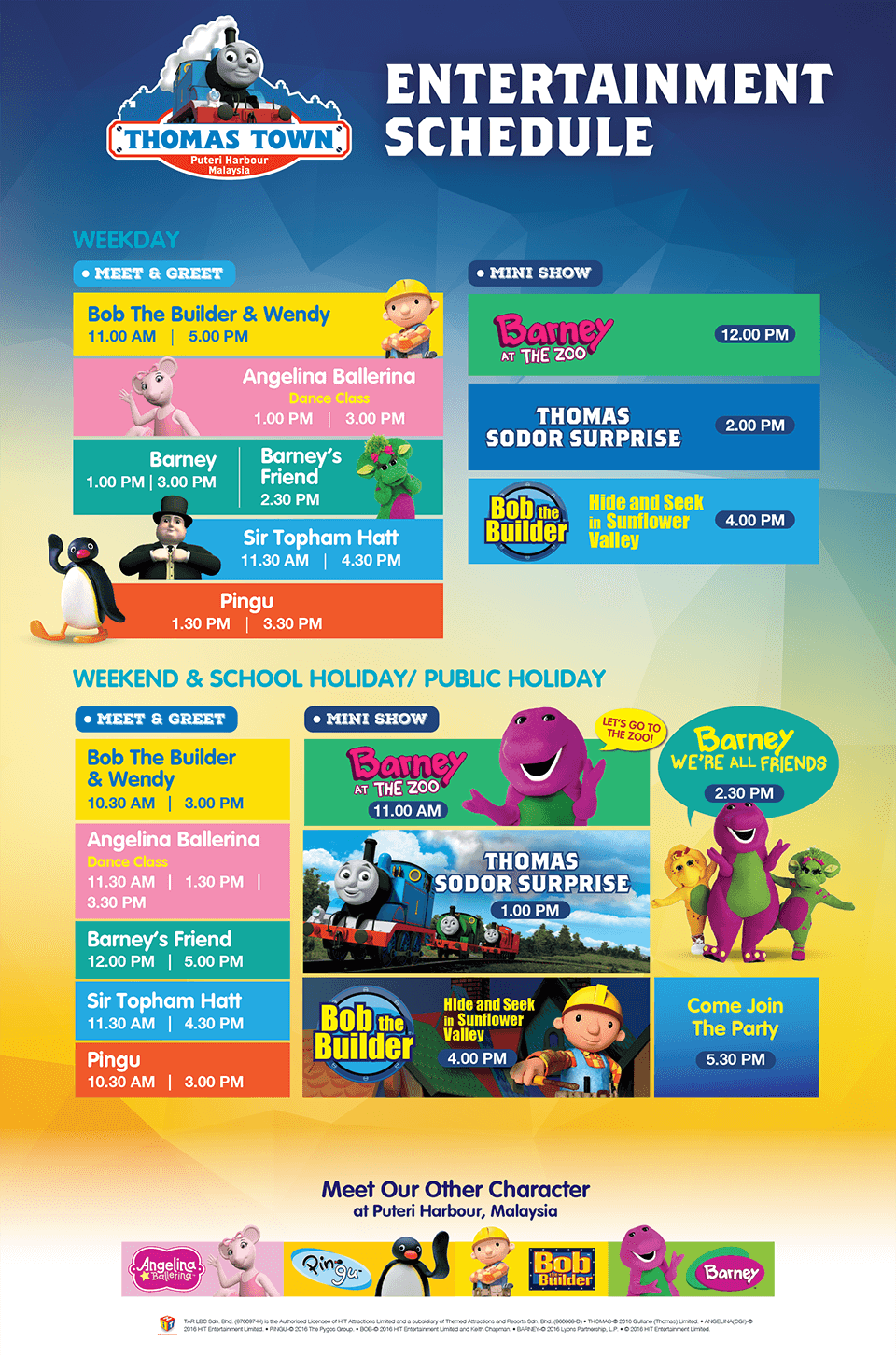 Hello kitty town puteri harbour family theme park johor bahru malaysia -  Check Out The Entertainment Schedule For Hello Kitty Town And