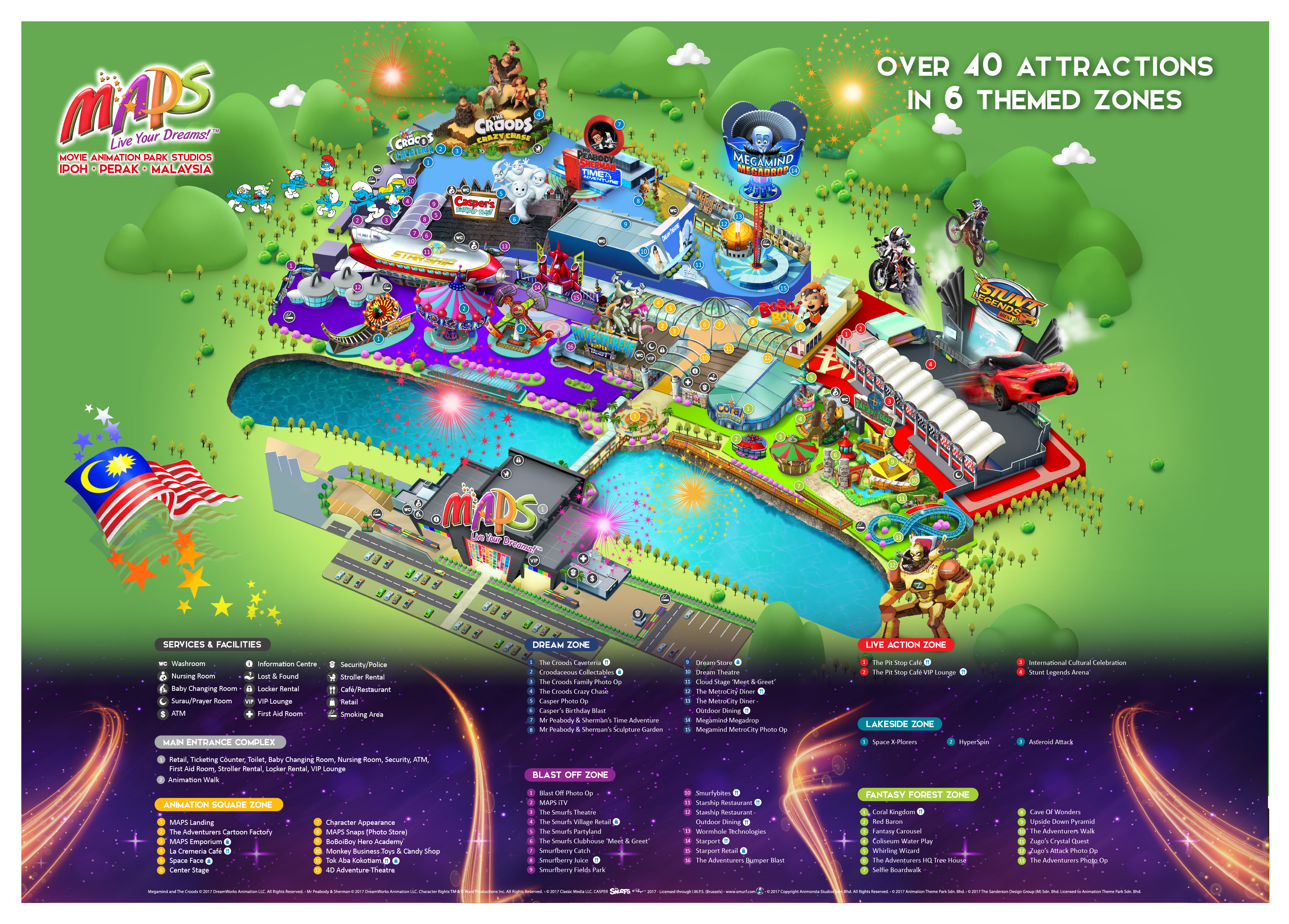Tiket Masuk Movie Animation Park Studio Maps Di Ipoh Malaysia