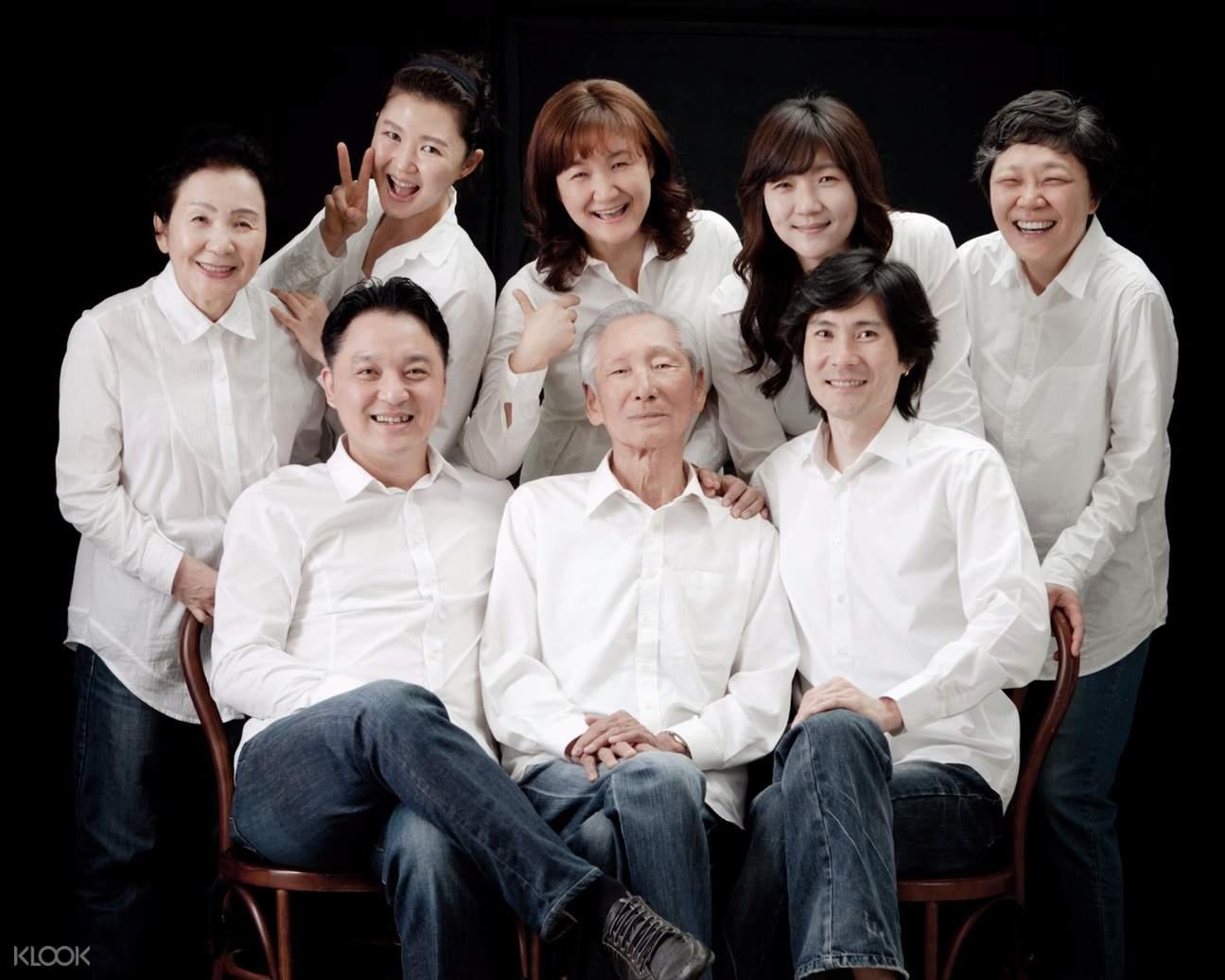 韩国吉安得全家福摄影体验