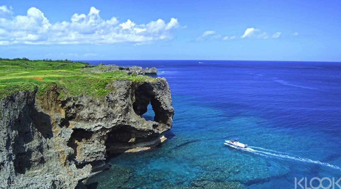 冲绳一日游,带你走遍古宇利岛,万座毛等著名景点