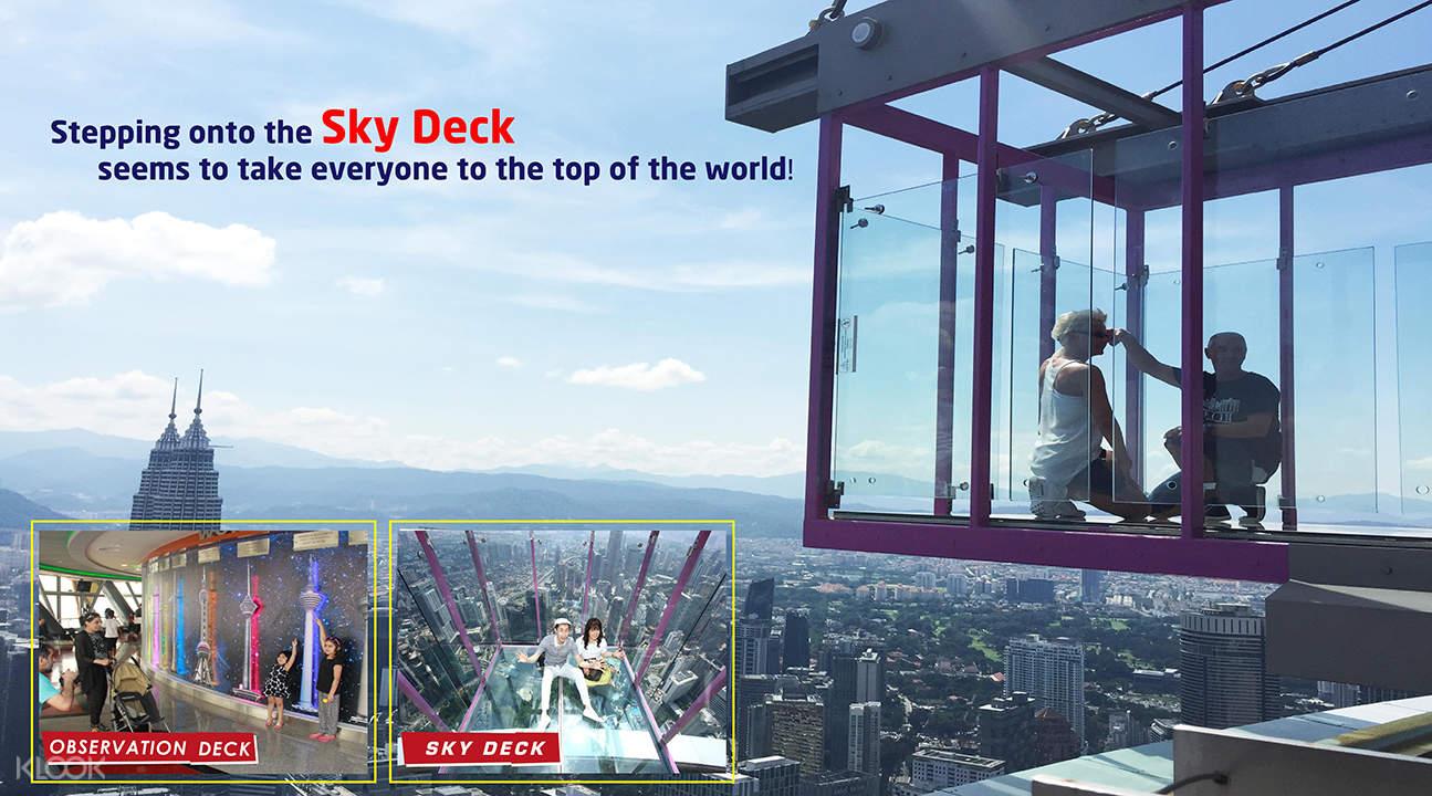 空中玻璃房,空中观景台三种不同视觉体验,全方位俯瞰吉隆坡城市美景