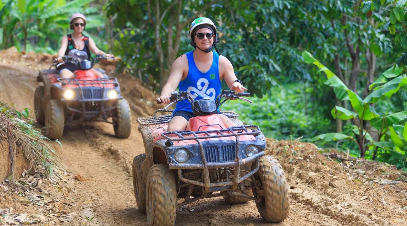 普吉岛atv越野车丛林探险