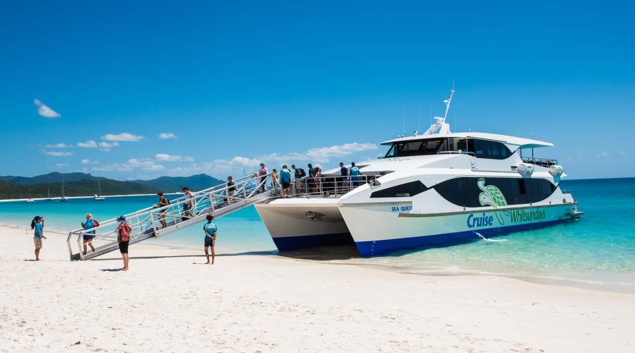 hop aboard   comfortable cruise vessel