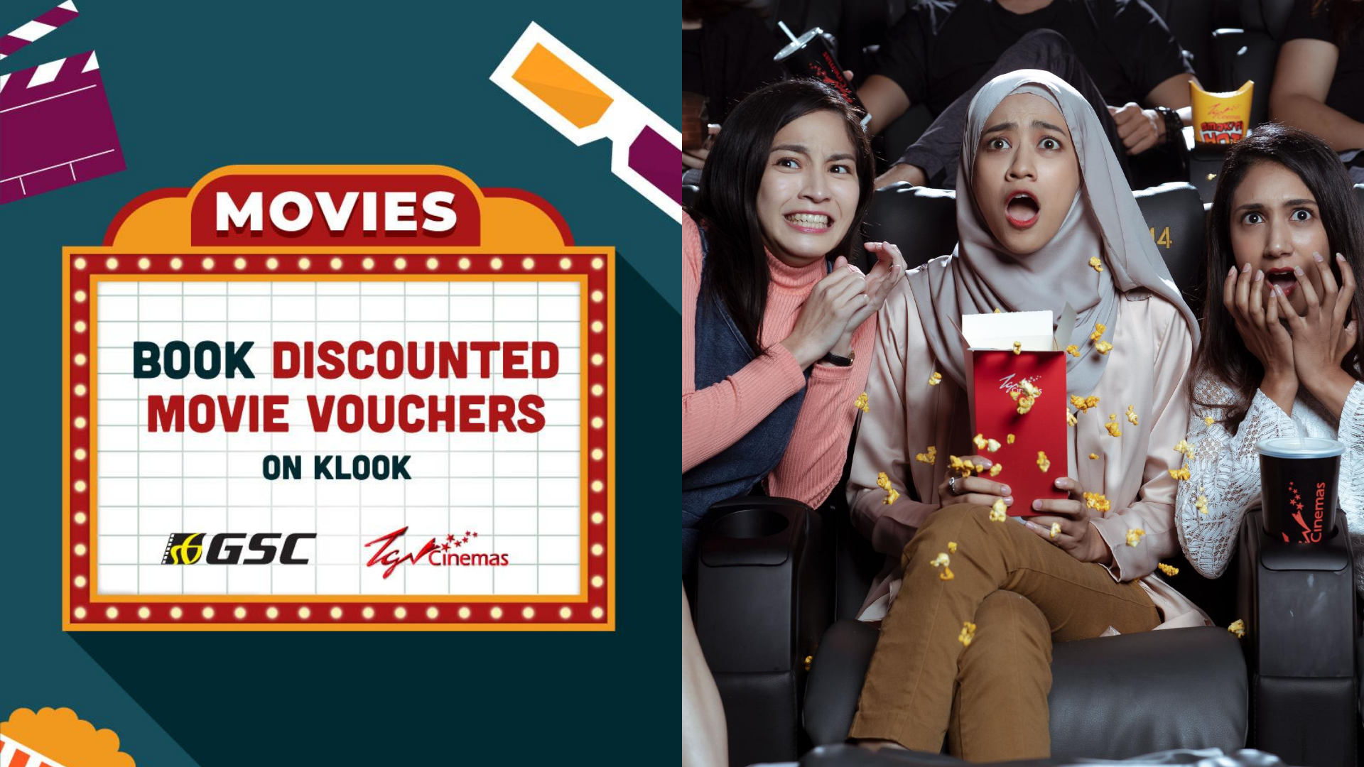[Special Offer] Save Up To 40% When You Book GSC And TGV Cinemas' Movie Tickets On Klook!