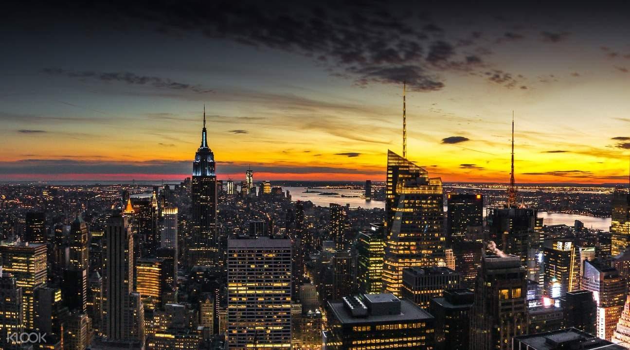New York skyline Top of the Rock