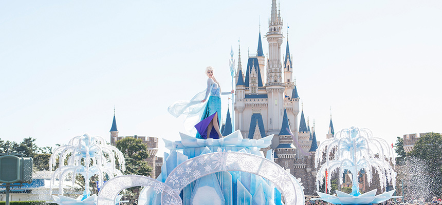 elsa on her ice castle