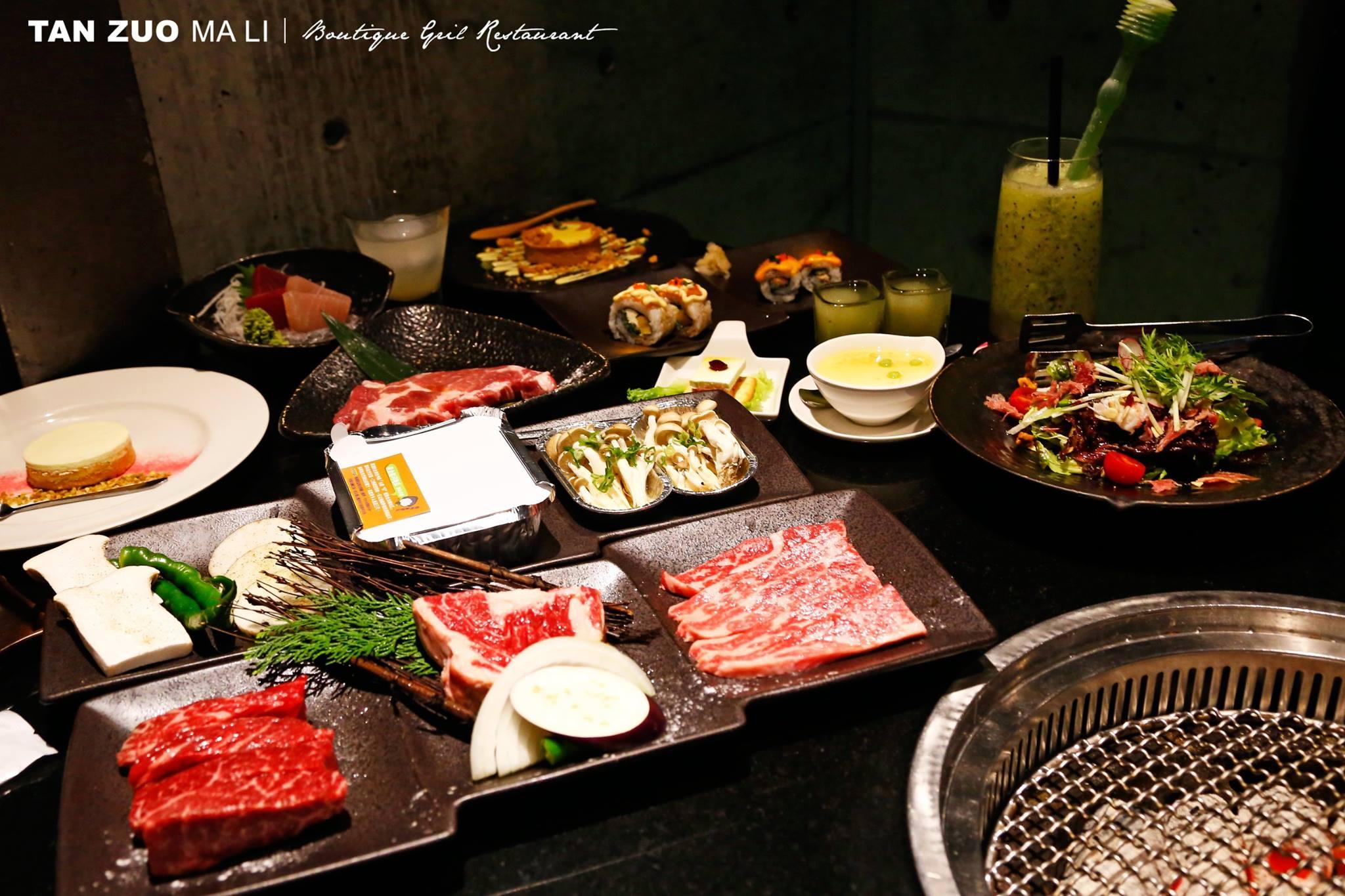 「碳佐麻里」豐盛的套餐組合。(圖片來源/碳佐麻里粉絲團)