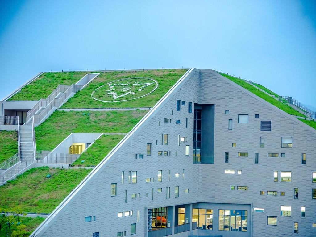 圖書館的屋頂上還有階梯,拾階登高而上,可將台東美景盡收眼底。(Flickr授權作者-中岑范姜)