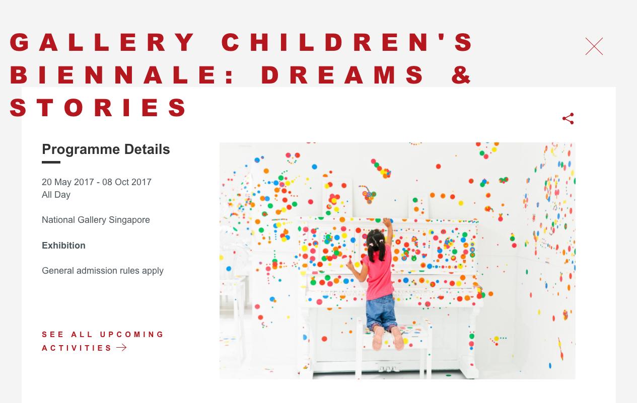 National Gallery 兒童特展。