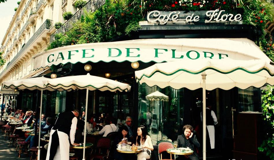 法國巴黎花神咖啡館 photo by saintgermaindespres
