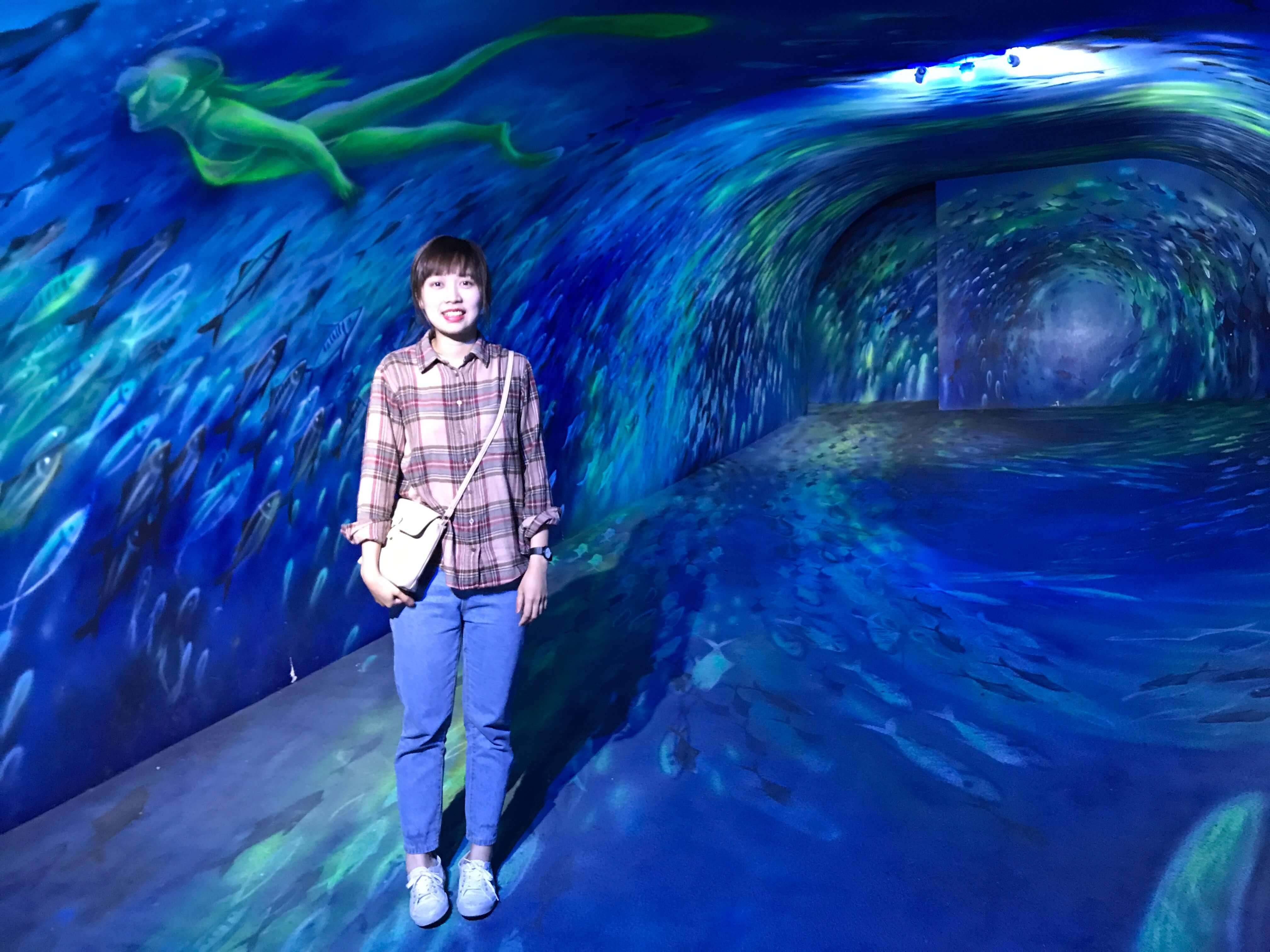 360度擬真3D立體魚龍捲隧道超奇幻。Photographer / Penny
