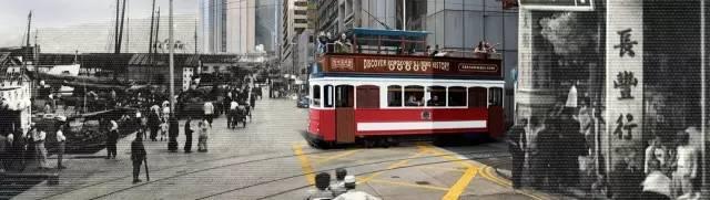 英 國 租 借 時 期 引 進 的 叮 叮 車 Photo from 香 港 電 車 官 網 。