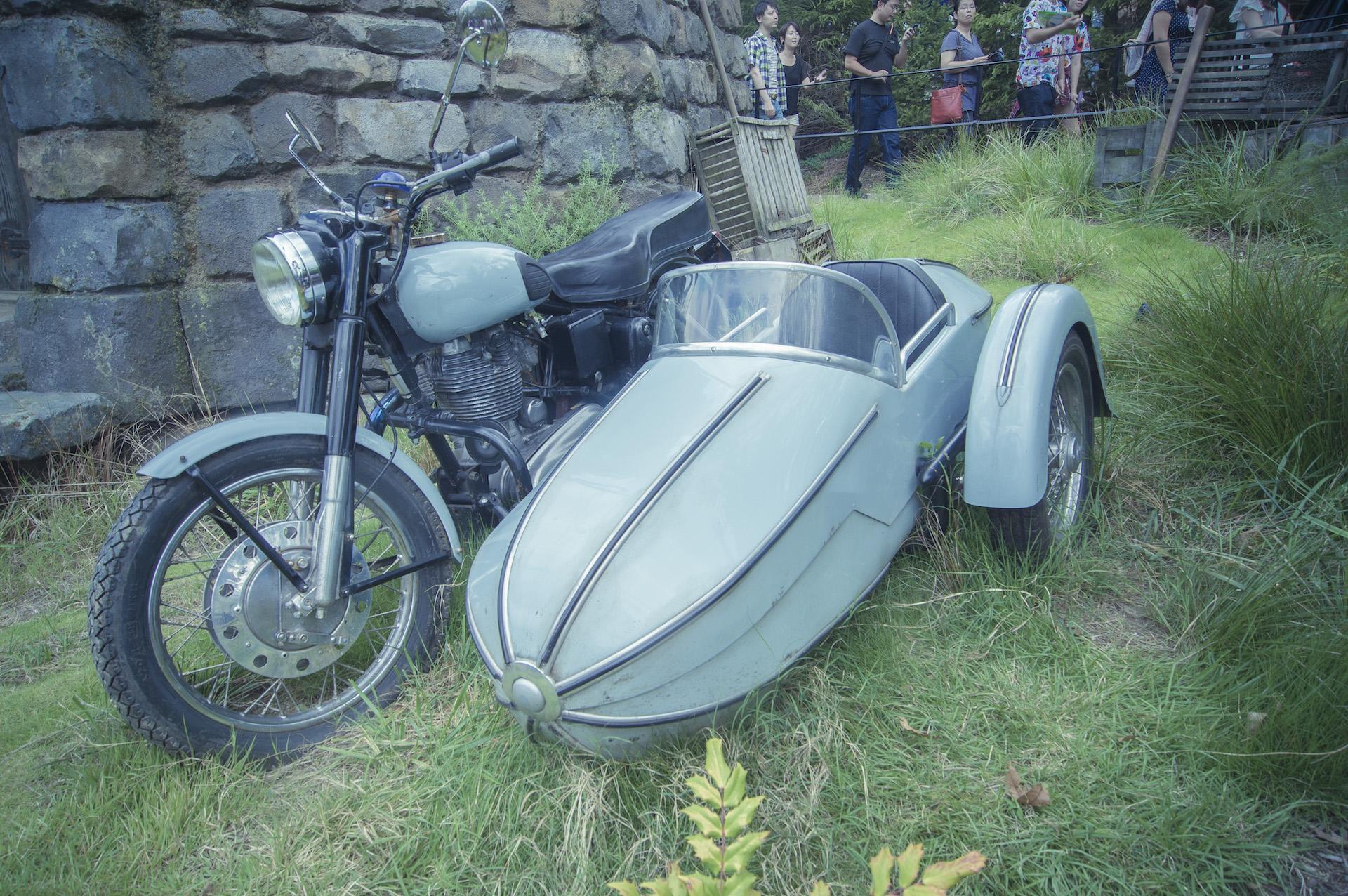 大阪環球影城哈利波特,完全是為了一睹海格的摩托車!
