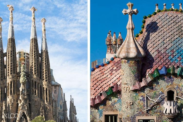Sagrada Família Und Casa Batlló In Barcelona Spanien