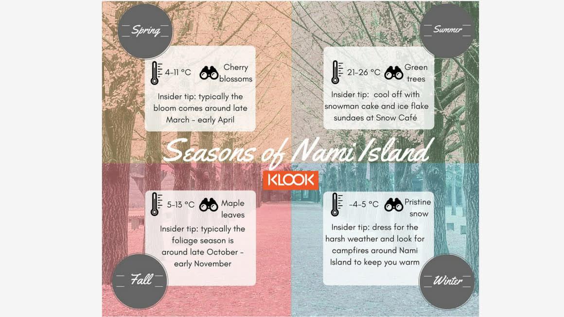 4 Seasons In Korea: Day Trip To Namiseom Island - Klook