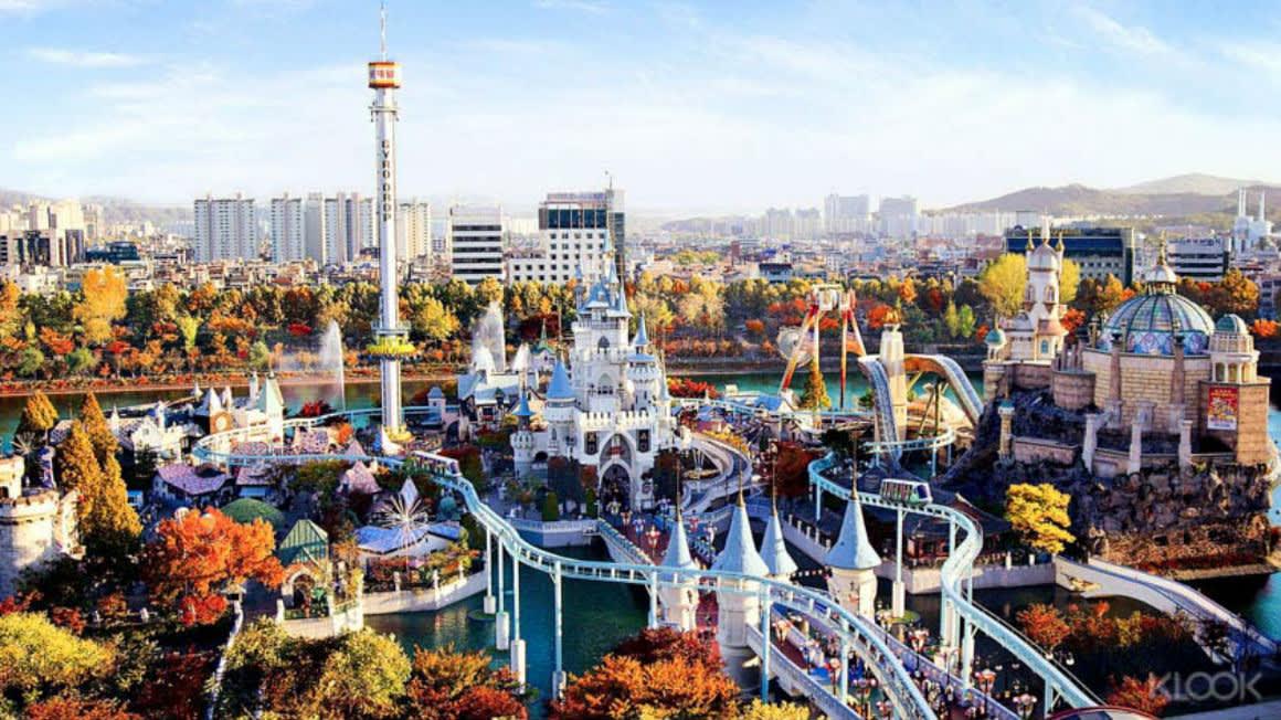 Kết quả hình ảnh cho công viên lotte world hàn quốc
