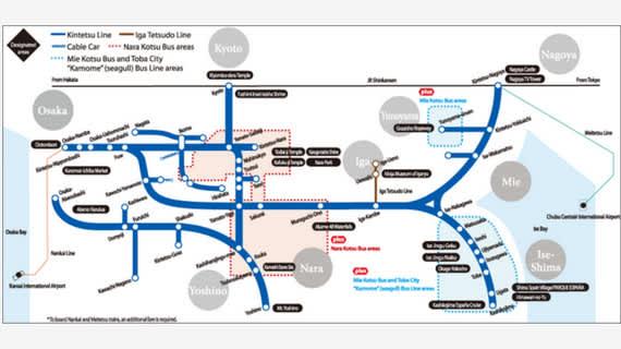 Kintetsu Rail Pass: Explore Os...