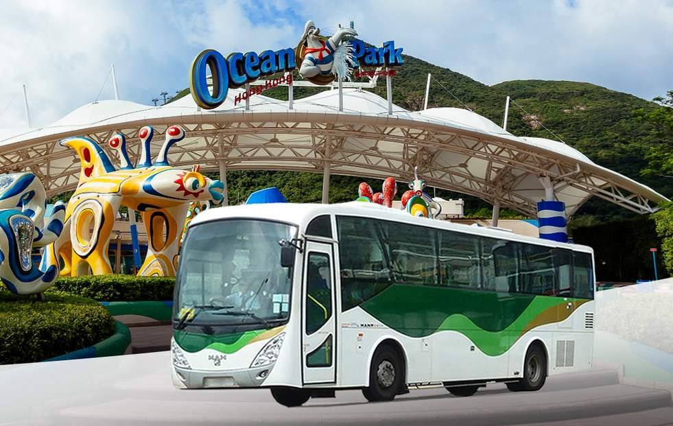 海洋公園門票 + 巴士接載 (可另選美食餐券)