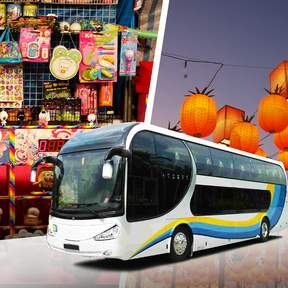 Shilin Night Market Singapore Shuttle Bus Ticket with Fast Pass Admission (Bugis Pick Up)