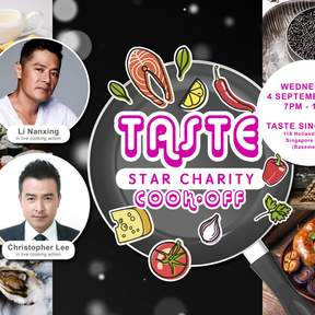 Stars Cooking Show Buffet at Taste Charity Cooking Show featuring Li Nanxing and Christopher Lee