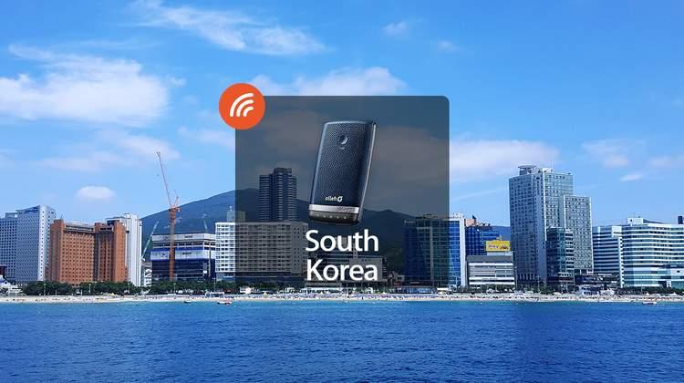【限時優惠3折】韓國游客邦4G WiFi分享器 - 4G上網吃到飽(台灣機場領取)