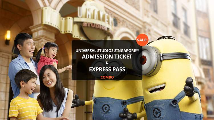 Universal Studios Singapore™ Admission Ticket and Express Pass Combo Package