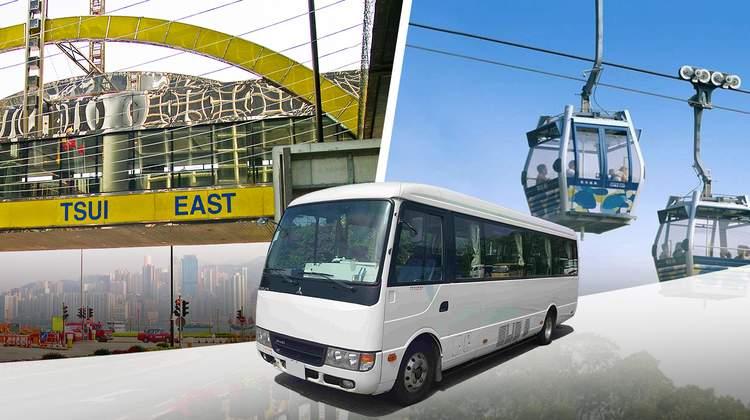 共乘巴士接送 九龍 至香港迪士尼樂園/昂坪360