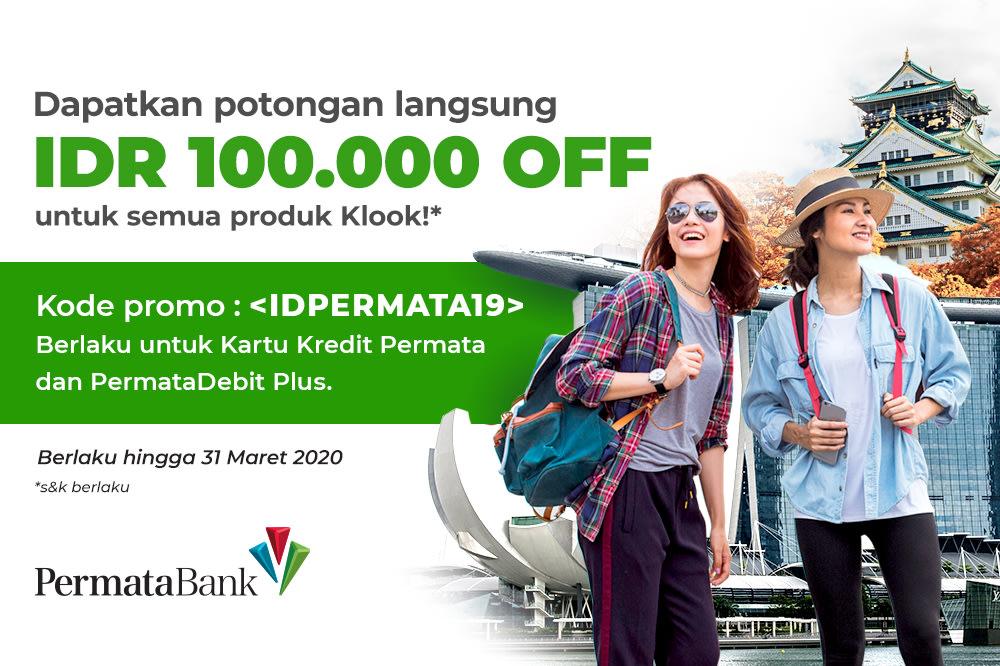 Promosi Permata Bank Klook