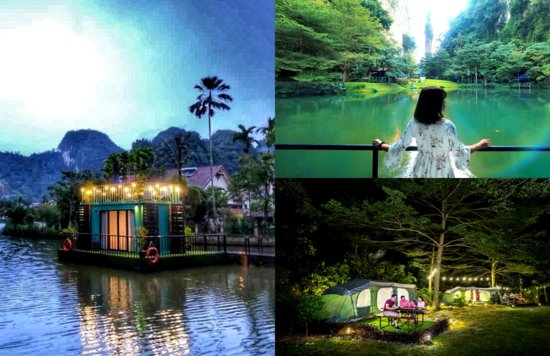 Lost World Of Tambun Ipoh Glamping Floating Chalet