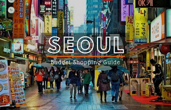 seoul shopping budget cover