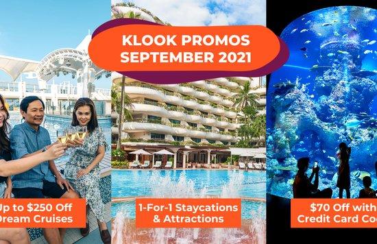 Klook Singapore Promo Codes September 2021