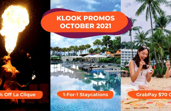 Klook Singapore Promo Codes October 2021
