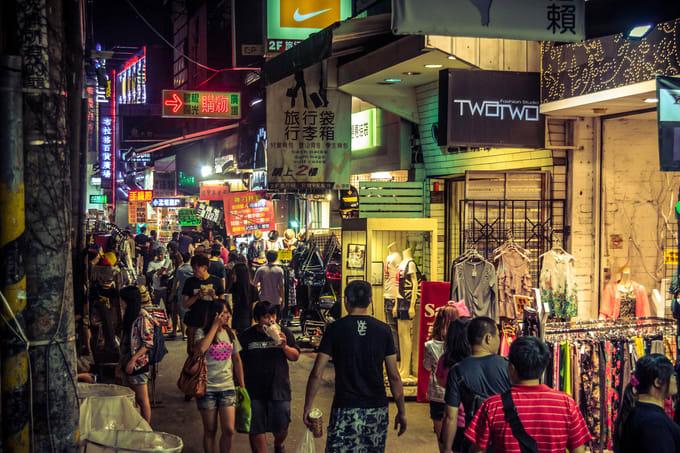 chợ đêm ở đài loan: fengjia