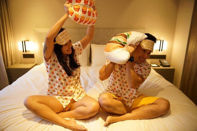 happiest night in mcdonalds pajamas