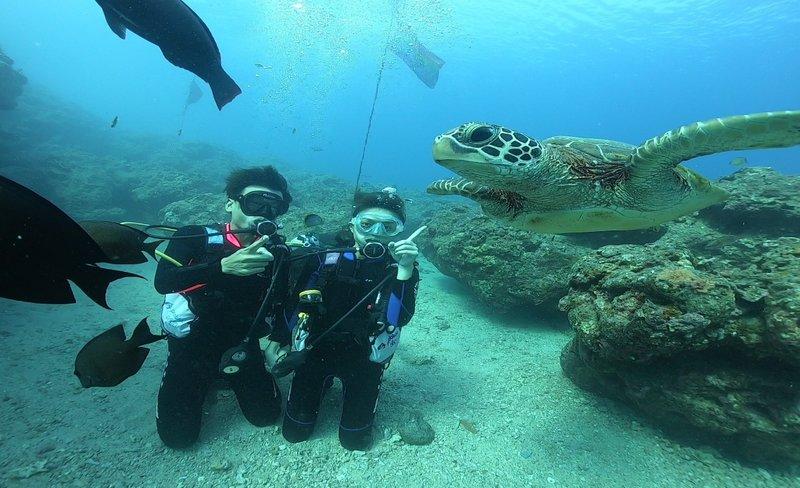 小琉球|熊潛水|潛水證照:3天2夜PADI開放水域OW潛水員課程&住宿&船票・餐點・機車租借
