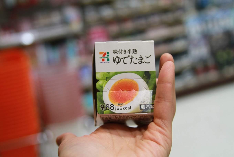 Ramen Egg or Half Boiled Egg from 7-Eleven Japan