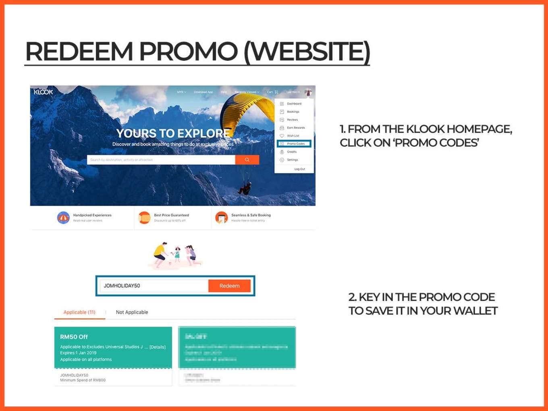 Redeem Promo Code on Klook