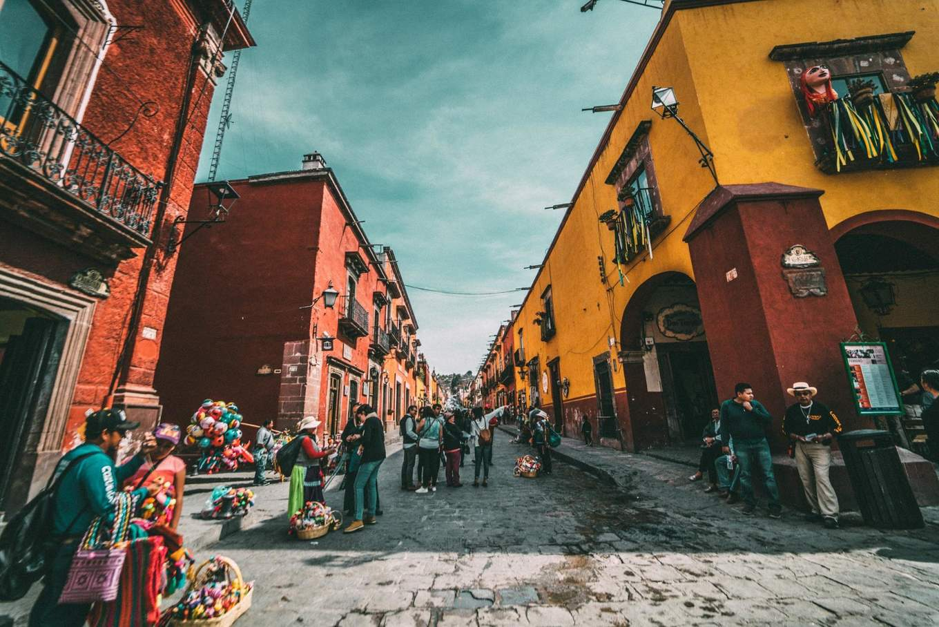 Street in old Mexico City