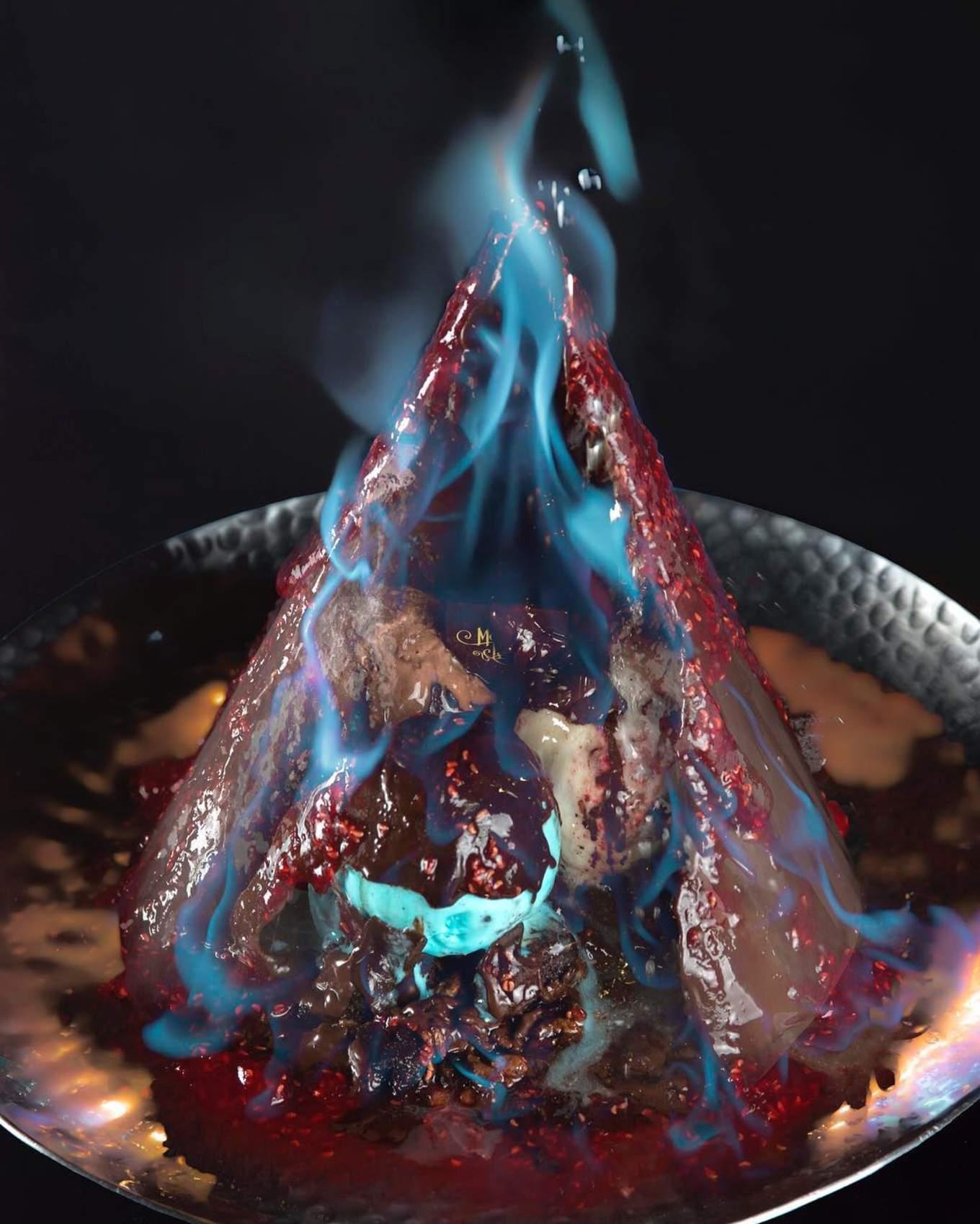 Mocking Tales Cafe Flaming dessert