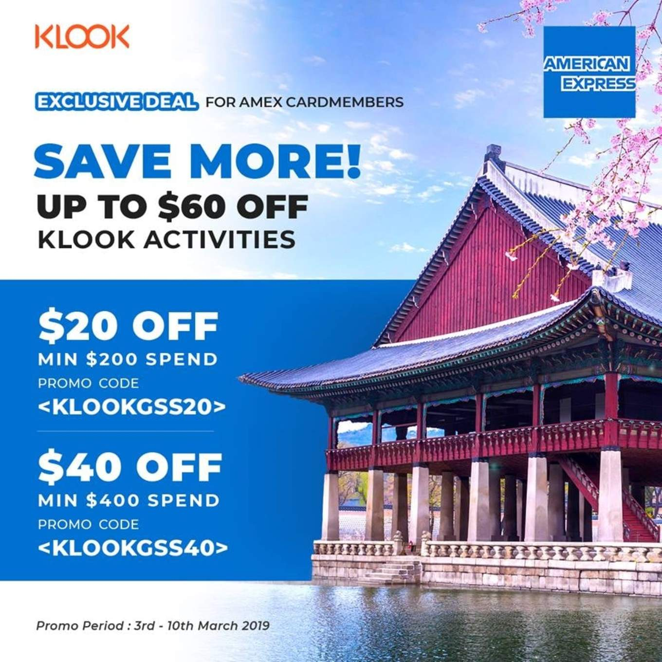 Klook Amex Exclusive Deal March