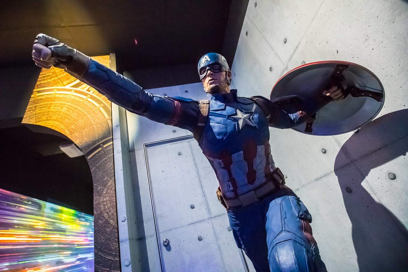 marvel exhibition captain america replica