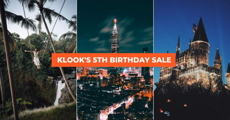 Klook birthday sale 1