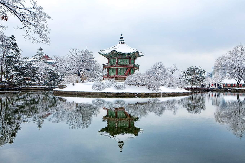 MaxPixel net Gyeongbok Palace Facing Garden Snow Winter 1214975