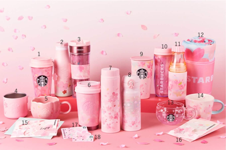 Starbucks Sakura 2020 Japan Numbered