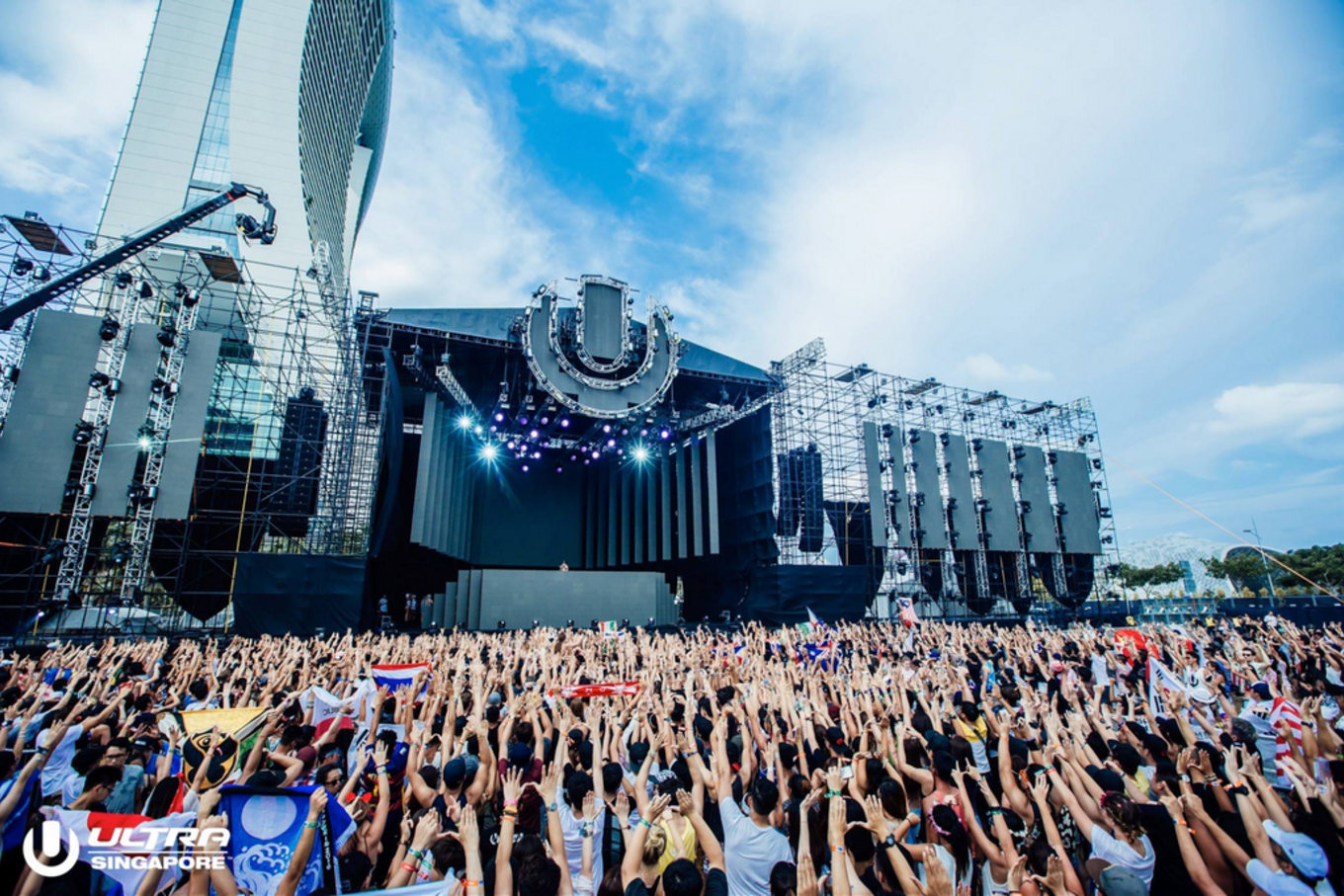 Party-goers at ULTRA Singapore 2017