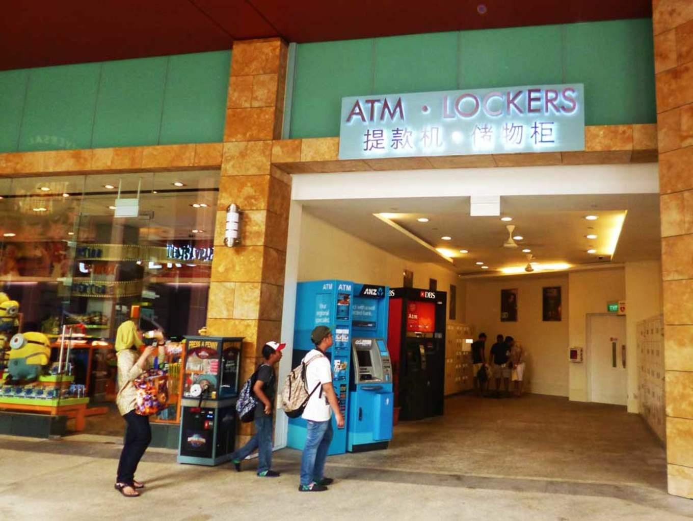 ATM's at Universal Studios Singapore