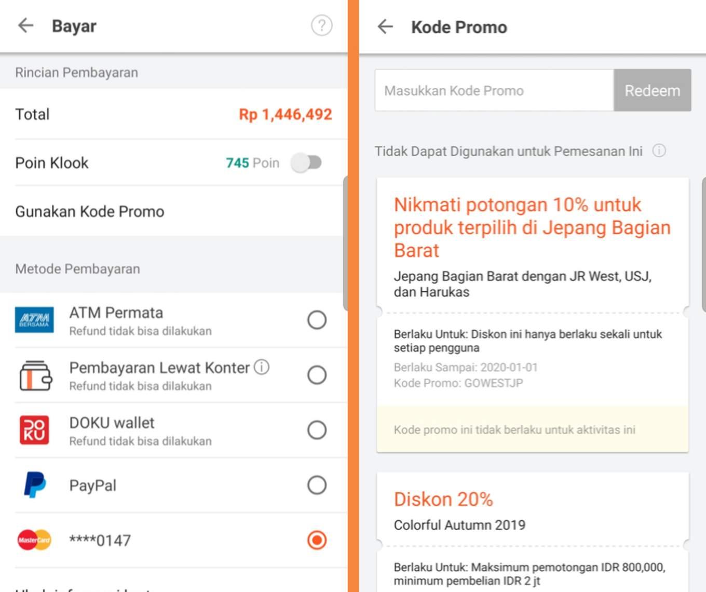 Promo Klook App