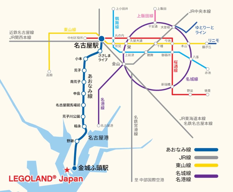 名古屋樂高樂園交通地圖